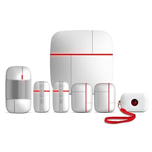 AvatarControls WiFi Home Security Alarm System DIY Kit, Smart Wireless Remote Control House Business Burglar Alert Security System with PIR Motion Sensor, Door window Sensor(7 set) AvatarControls