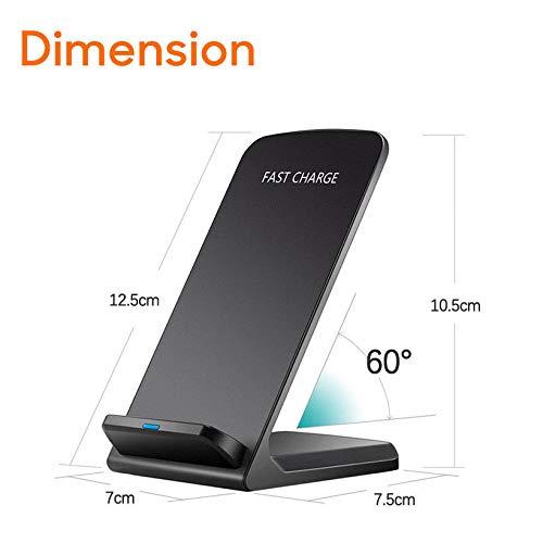 I-Sonite Noir Qi certifi/é de Bureau Ultra-Rapide Chargeur sans Fil Station de Recharge 10W Support et Ultra-Mince Qi Module r/écepteur Chip pour ASUS ZenFone 3 Max ZC520TL