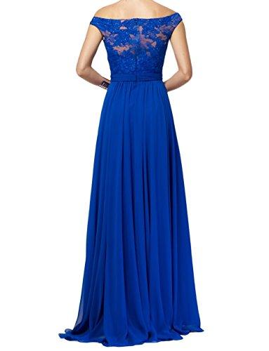 Promkleider Damen Linie Lang Charmant Dunkel Abiballkleider Spitze Abendkleider A Blau Traumhaft Brautmutterkleider qpxxwX6O