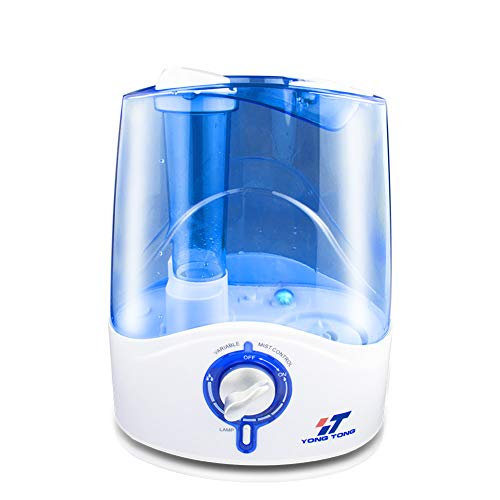 HENGTONG 5L Humidifier Visible Cool Mist Ultrasonic Whisper-Quiet Auto Shut-Off for Large Room Office Baby Bedroom,Blue