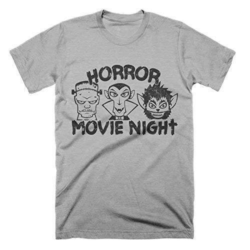 Horror Movie Night T-Shirt Frankenstein Shirt Wolfman Shirt Funny Halloween Tshirt Mens Womens Kids Vintage Graphic Tee]()