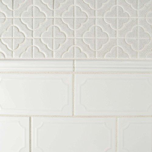 SomerTile WCVRGBZM Zuri Brillo Zen Moldura Wall Trim Tile, 1'' x 8'', White by SOMERTILE (Image #8)