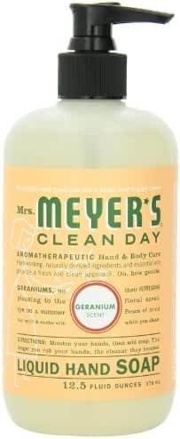 Mrs Meyers Hand Soap Geranium 12.5 Ounce Pump (370ml) (6 Pack)