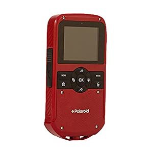 "Polaroid iD610 Red HD Water-Resistant Pocket Camcorder with 5x Optical Zoom and 2.7"" LCD"