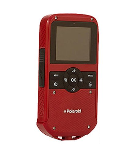 Polaroid iD610 Red HD Water-Resistant Pocket Camcorder with 5x Optical Zoom and 2.7″ LCD