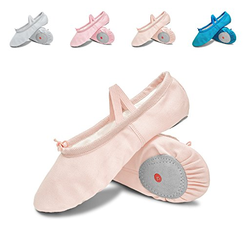 L-RUN Mädchen / Frauen Canvas Ballett Tanzschuhe / Ballett Versender / Yoga Schuh Beige