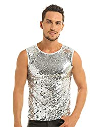Men's Shiny Sleeveless Tank Top Vest