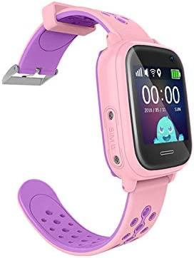 Smartwatch niños con localizador GPS+WIFI+AGPS+LBS Llamadas y cámara de Fotos. Reloj Inteligente acuático con IP67 para niños de 3 a 13 años (Rosa)