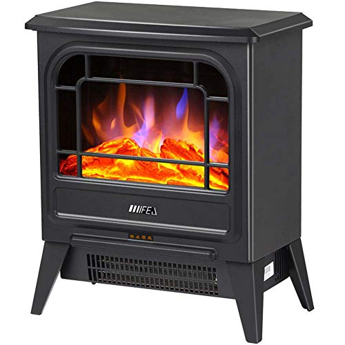 Cheap TTIK Modern Cold-Rolled Plate Electric Fireplace Classic Flame 750-1500W Traditional Antiqued Build in Recessed L350 W222 H422MM Black Friday & Cyber Monday 2019