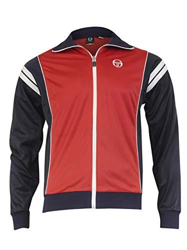 (Sergio Tacchini Men's Scirocco Archivio Zip Front Red/Navy Track Jacket Sz: XL)