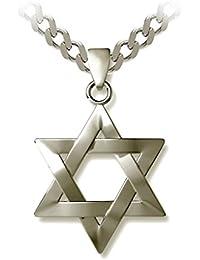 "Star of David Necklace Magen David Jewish Pendant, 19.7"""