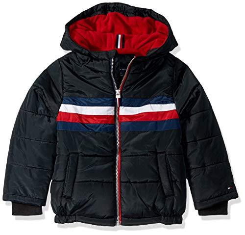 Tommy Hilfiger Boys' Big Logan Jacket, Black, Large (16/18) (Jacket For Boys Tommy Hilfiger)