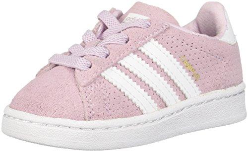 adidas Originals Baby Campus EL I Sneaker, aero Pink s, FTWR White, 7.5K M US Toddler