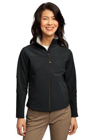 Ladies Port Authority Port Authority - Ladies Glacier Soft Shell Jacket. L790 - XS - Black/Chrome