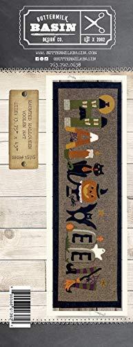 Haunted Halloween Woolen Mat Pattern - by Buttermilk Basin - Wool Applique Pattern - BMB 1676 13.75