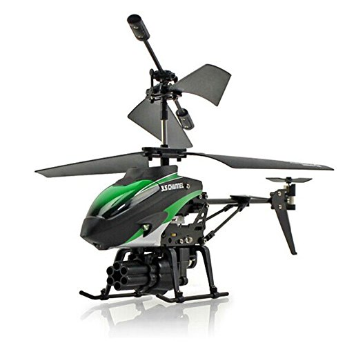 Qiyun Helicopter 2-Motors Mini Remote-controlled Aircraft with 7 Missiles Children Plastic Helicopter Toy Christmas (Controlled Mini Helicopter)
