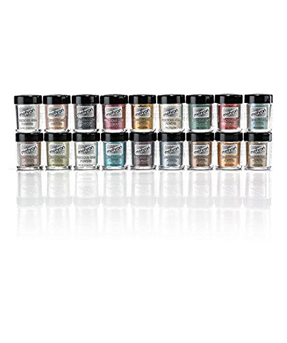 Mehron Precious Gem Glitter Powder 0.17 Oz | Silky, Bright Colors, Shimmering & Sparkling Loose Eyeshadow | For Face, Body & Nails | Add Intensity, Improve Looks & Create Dramatic Effect (Peridot)