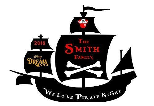 LARGE Personalized Disney We Love Pirate Night Inspired Magnet for Disney Cruise with your Family Name -