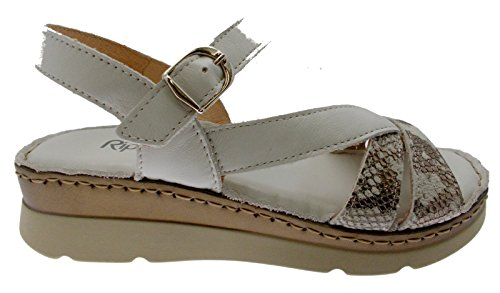 Souple 6153 en Riposella Sandale Bronze Blanc avec Semelle g8x7qw40