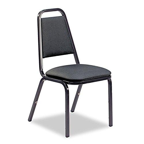 Virco - Vinyl Upholstered Stacking Chair - Black - 4 Pack