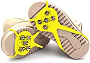 Milaloko 1 Pair (Kids' Size) Crampons,Traction Cleats,Spike for Winter Walking Safety,Shoe Grips on Ice、Sn