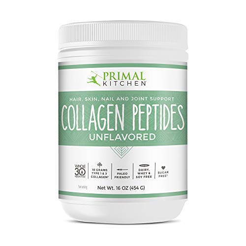 Primal Kitchen Unflavored Collagen Peptides, Whole 30 Approved - Supports Healthy Hair, Skin, Nails and Joints- 16 oz.
