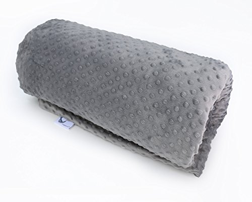 Huggaroo Weighted Blanket for Adults (15 lbs, 80 x 58 inches, Grey) | Set Includes a Machine-Washable, Removable Plush Duvet Cover