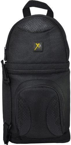 Xit XTBPS Deluxe Digital Camera/Video Sling Style Shoulder Bag (Black)