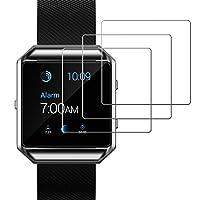 Protector de pantalla JETech para película de vidrio templado para reloj inteligente Fitbit Blaze, paquete de 3