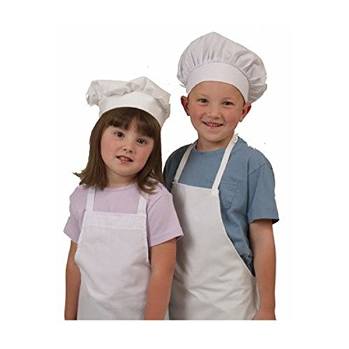 Kids Apron and Chef Hat Set. Adjustable Hat. Fits Childs Size Medium 6-12. (Lt. Pink) - Free eBook by Chefocity (Image #2)