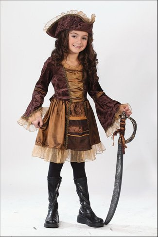 Sassy Victorian Pirate Child Costume - Large (Little Girls Pirate Costume)