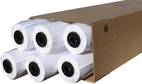 CABRO 51914-46 Qualitäts-Plotterpapier, 6 Rollen, 90 g, 914 mm x 46 m, Ideal für Pläne, Cad-Skizzen, weiß