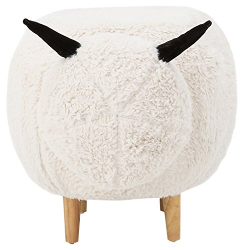 Best Selling 353082 A353082 Wooly Perfect for Nursey Kids Sheep Ottoman ()