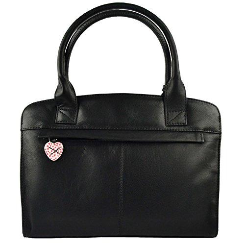 Mala Leather, Borsa a mano uomo Nero (nero)