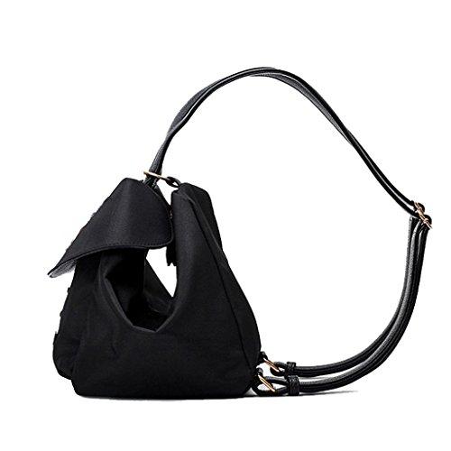 Cloth Oxford Backpack da Borse Embroidery Black donna Zxt4ZEw