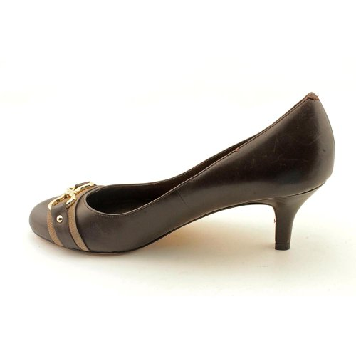 Cole Haan Donna Air Lainey Drk Choc / Greige Scarpe Con Tacco A Pompa In Pelle 9.5 B