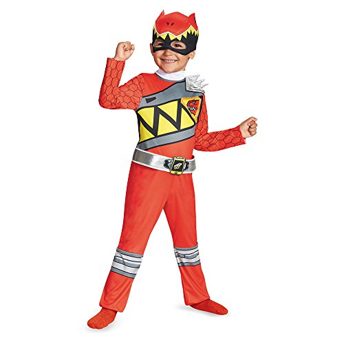 Disguise Red Ranger Dino Charge Toddler Classic Costume, Medium (3T-4T) (Sew Kids Boys Short)