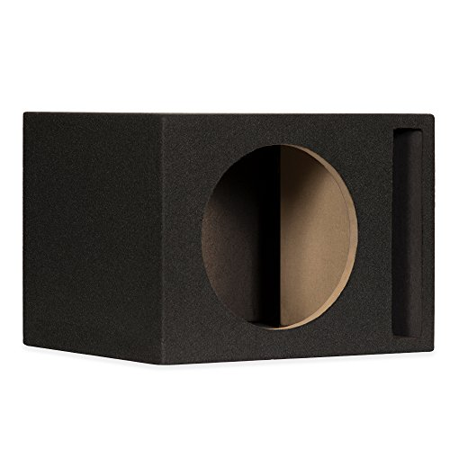 New Single Car Black Subwoofer Box Ported Automotive Enclosure for 10