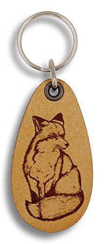 Fox Keychain - ForLeatherMore - Majestic Fox - Genuine Leather Keychain - Wildlife keychains