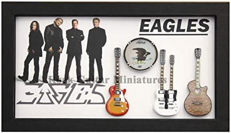 RGM9012 Colección de Guitarra en Miniatura Eagles en Marco de Caja ...