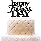 Toys : Happy Father's Day Cake Topper - Best Dad Ever - Happy Fathers' Birthday Party Decorations Black Glitter