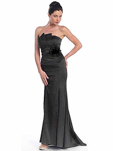 Gown Long Taffeta Rosette Queen with Strapless Black Dancing wpzIqx