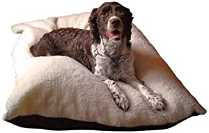 B008PRCXU0NVE Dog Bed King USA Large Pillow Style Dog Bed, 27-Inch by 36-Inch, Brown