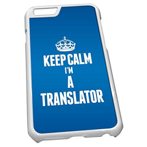 Weiß Schutzhülle für iPhone 62697blau Keep Calm I 'm a Übersetzer