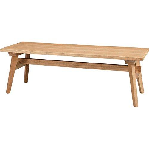 ローベンチ ベンチチェア 【ナチュラル】 木製 高さ36cm 『モティ』 B0778M42NY ベンチ ナチュラル ナチュラル ベンチ