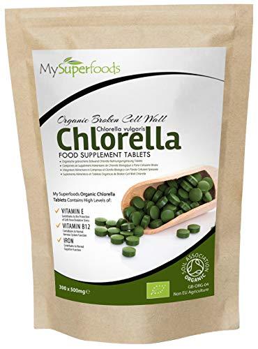 Organic Chlorella Tablets (300 x 500mg) | MySuperFoods | Incredibly High...