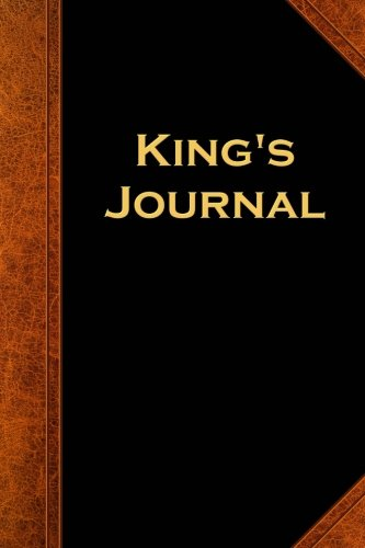 King's Journal Vintage Style: (Notebook, Diary, Blank Book) (Scary Halloween Journals Notebooks Diaries)