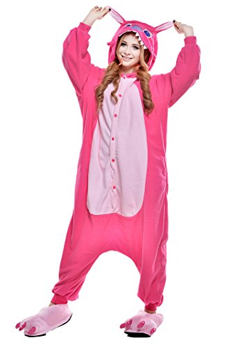 NEWCOSPLAY Halloween Adult Pajamas Sleepwear Animal Cosplay Costume (S, Rose Stitch)
