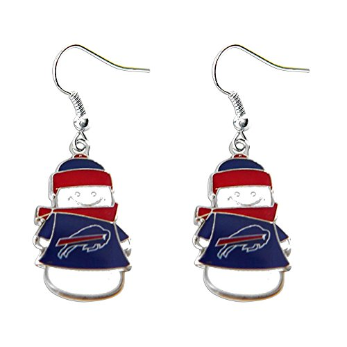 NFL Buffalo Bills Snowman Earrings