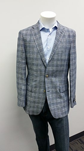 Jean-Paul Germain Big and Tall Deco Plaid Linen Sport Coat